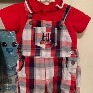 Tommy Hilfiger overalls outfit